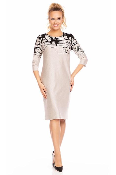Женское платье Livia Beige с узором