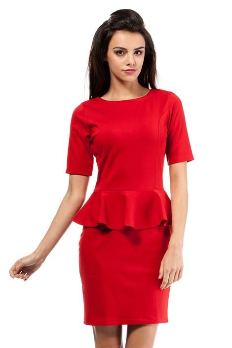 Женское платье с баской Moe014