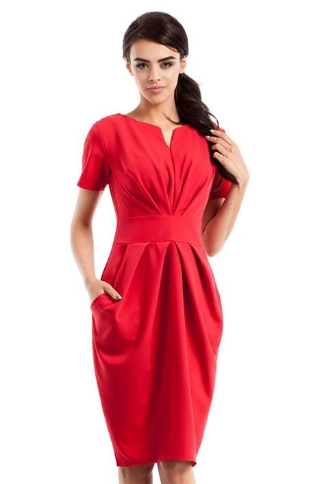 Женское элегантное платье с карманами Moe234