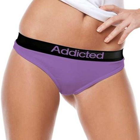 Танга Addicted фиолетовые