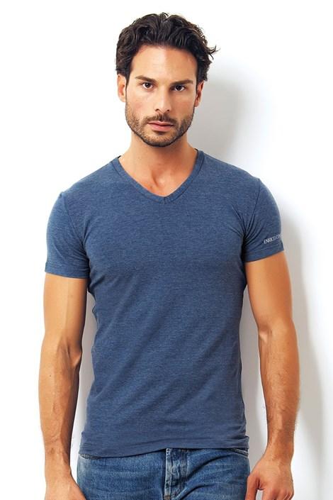 Мужская итальянская футболка Enrico Coveri 1505 Oceano