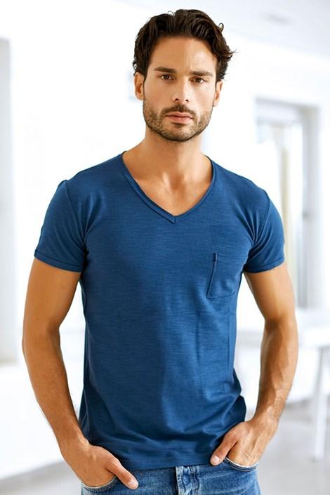 Мужская итальянская футболка Enrico Coveri 1512 Oceano