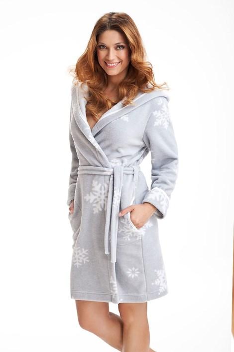 Женский халат Snowflakes Grey