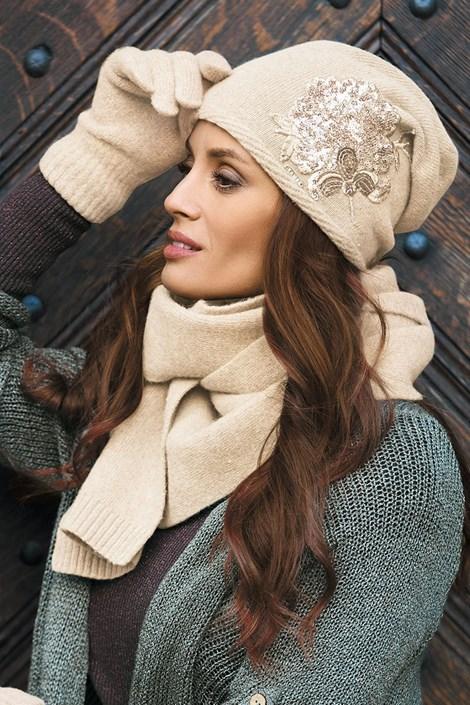 Женская шапка Juana Beige