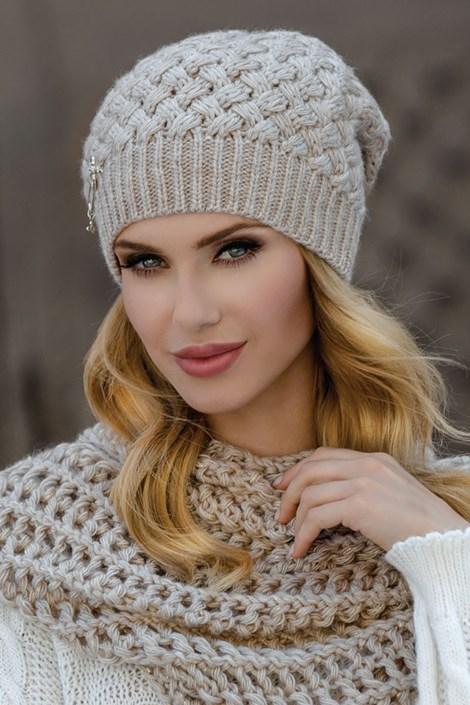 Женская шапка Kinga Beige