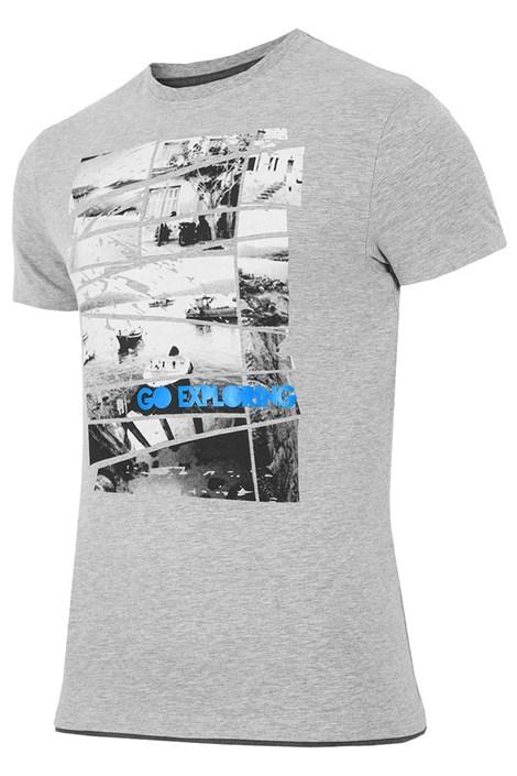 Мужская брендовая футболка 4F TSM031 Grey