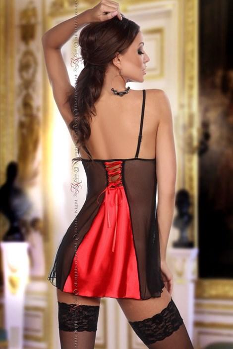 Сорочка + стринги Michele красные