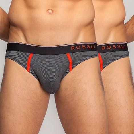 Мужские слипы - 2шт Rössli 35Grigio с модалем