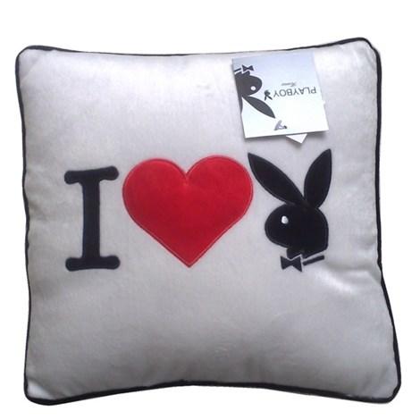 Подушка Square I Heart Bunny white
