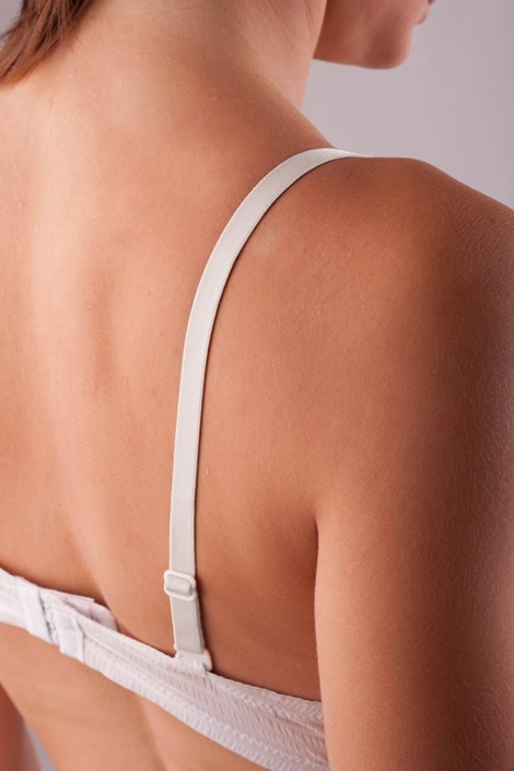 Текстильные бретели 10 мм белые