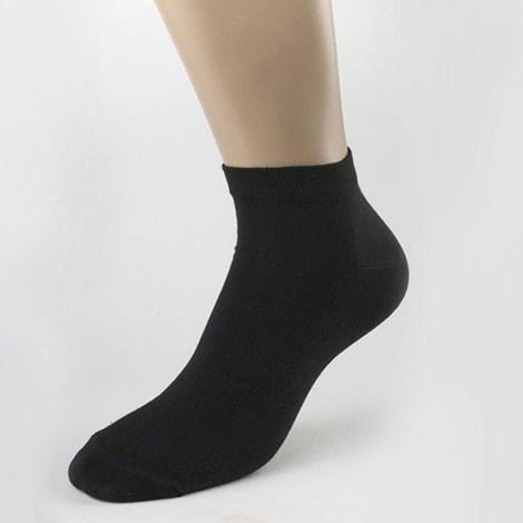 Мужские бамбуковые носки низкие черные
