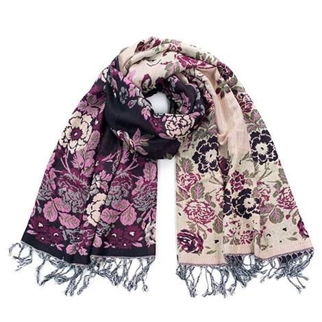 Элегантный шарфик English garden Black
