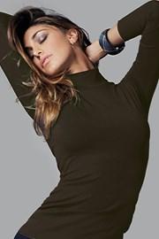 Женская хлопковая футболка с длинными рукавами