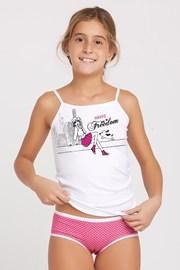 Комплект майка и трусики для девочек Marika Pink