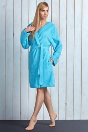 Женский халат Alba Turqoise из бамбукового материала