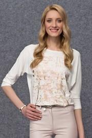 Женская блуза с золотистым принтом Arena White