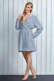 Женский хлопковый халат Debi Grey