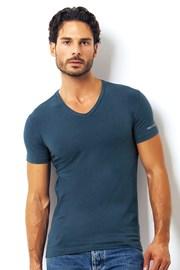 Мужская итальянская футболка Enrico Coveri ET1501 Avio хлопковая