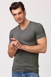 Мужская итальянская футболка Enrico Coveri ET1501 Grigio хлопковая