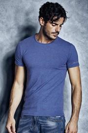 Мужская хлопковая футболка 1504 Cobalto