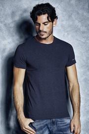 Мужская хлопковая футболка 1504 Mel Blue