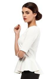 Женская элегантная блуза с баской Moe007