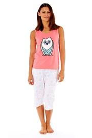 Женская хлопковая пижама Owl Coral