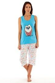 Женская хлопковая пижама Owl Blue