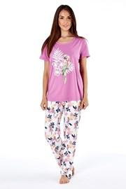 Женская хлопковая пижама Parrot pink