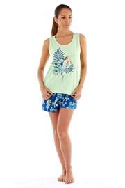 Женская хлопковая пижама Parrot с шортами