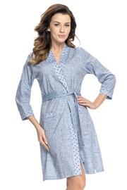 Женский халат в джинсовом дизайне