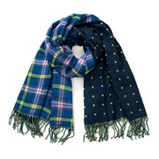 Женский двусторонний шарфик Blue