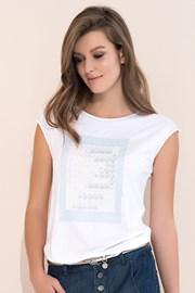 Женская элегантная футболка Scarlet White