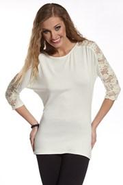 Женская футболка с кружевом Tatiana