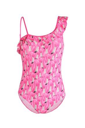 Суцільний купальник для дівчаток Flamingo
