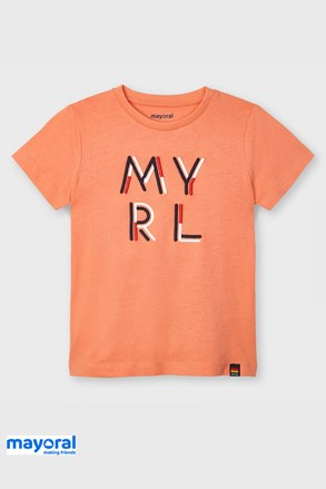 Дитяча футболка Mayoral Apricot