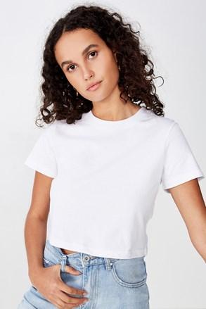 Жіноча базова футболка з короткими рукавами Baby біла