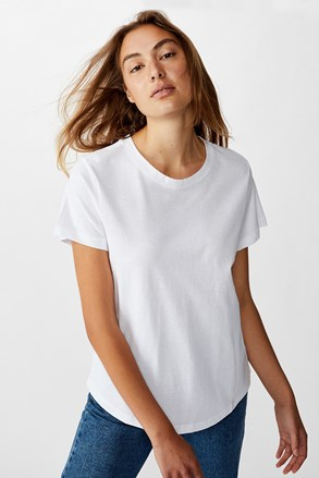 Жіноча базова футболка з короткими рукавами Crew біла