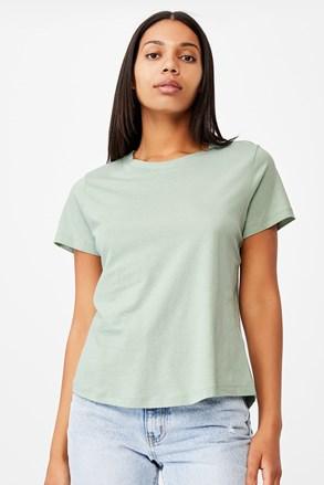 Жіноча базова футболка з короткими рукавами Crew зелена