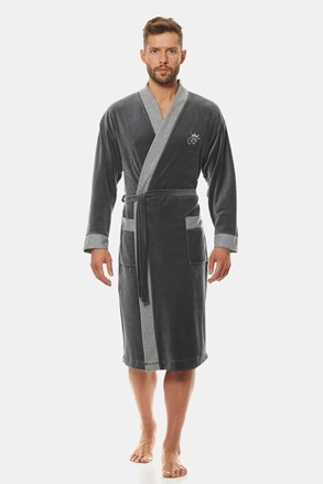 Сірий халат Royal