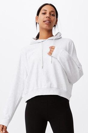 Жіночий сірий світшот з капюшоном Favourite