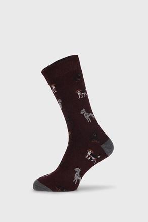 Бордові шкарпетки Fantasy