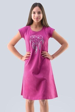 Нічна сорочка для дівчинки Hearts рожева