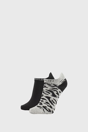 2 ПАРИ жіночих шкарпеток Calvin Klein Libby сіро-чорні
