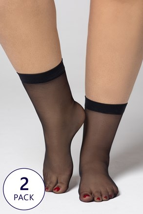 2 ПАРИ нейлонових шкарпеток Plus Size 20 DEN