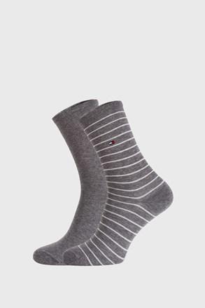2 ПАРИ сірих жіночих шкарпеток Tommy Hilfiger Stripes