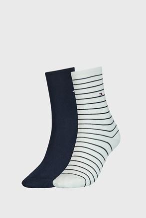 2 ПАРИ синьо-білих жіночих шкарпеток Tommy Hilfiger Stripes