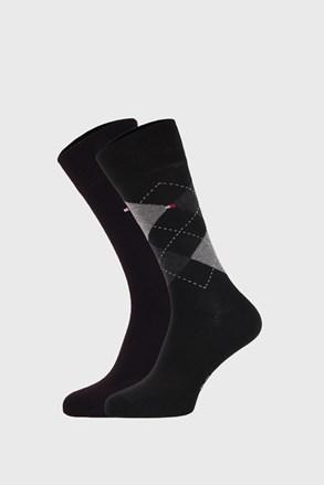 2 ПАРИ чорних шкарпеток Tommy Hilfiger Check