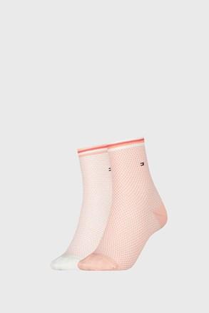 2 ПАРИ жіночих шкарпеток Tommy Hilfiger Honeycomb Coral