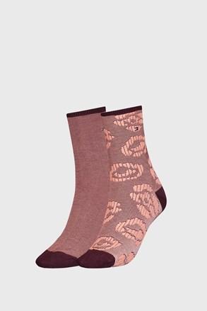 2 ПАРИ жіночих коричневих шкарпеток Tommy Hilfiger Flower